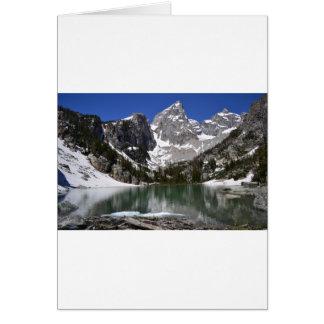 Parque nacional grande de Teton do lago delta Cartão Comemorativo