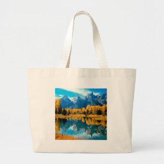 Parque nacional grande de Teton do outono da água Bolsa Para Compras