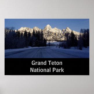 Parque nacional grande de Teton Pôster