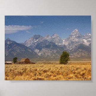Parque nacional grande de Teton Impressão
