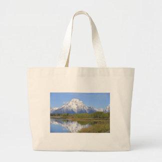 Parque nacional grande do Mt. Moran Teton Bolsa Tote Grande