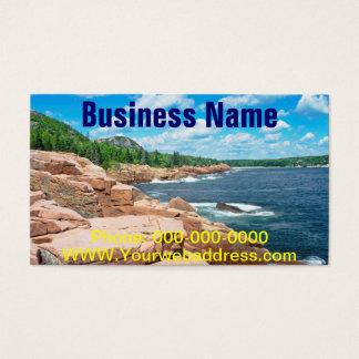 Parque nacional Maine do Acadia rochoso do Cartão De Visitas