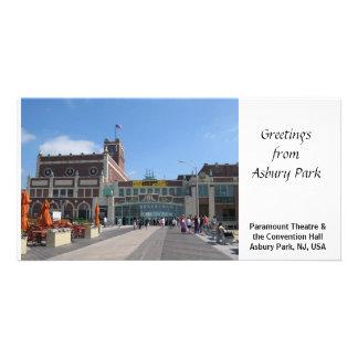 Parque NJ de salão de convenção Asbury do teatro d Cartoes Com Foto Personalizados