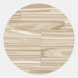 Parquet de madeira claro da grão adesivo redondo