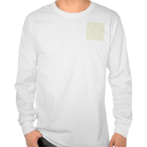 Parte alta bege Monogrammed colorida Tshirt