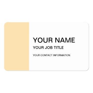 Parte alta clara do pêssego colorida cartão de visita