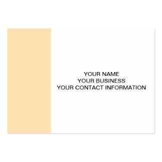 Parte alta clara do pêssego colorida cartão de visita grande