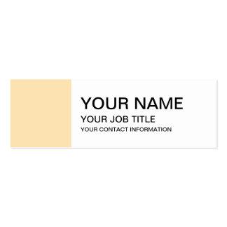 Parte alta clara do pêssego colorida cartão de visita skinny