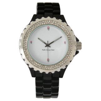 Parte clássica do tempo do vestido das senhoras do relógio de pulso