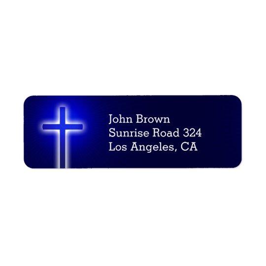 Parte cristã da cruz   sua fé etiqueta endereço de retorno