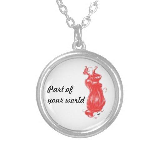 Parte de seu mundo colares personalizados