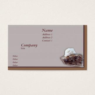 Parte de torta cartão de visitas
