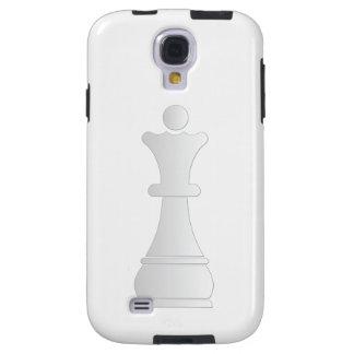 Parte de xadrez branca da rainha capa para galaxy s4