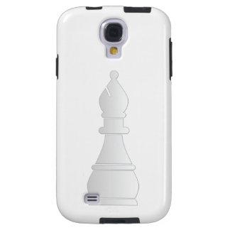 Parte de xadrez branca do bishop capa para galaxy s4