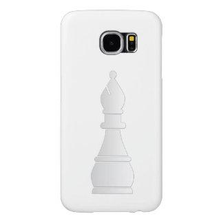 Parte de xadrez branca do bishop capas samsung galaxy s6