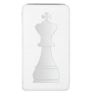 Parte de xadrez branca do rei bolsinha para celular