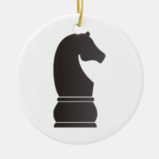 Parte de xadrez do cavaleiro preto enfeite