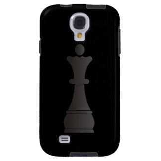 Parte de xadrez preta da rainha capa galaxy s4