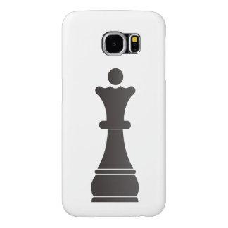 Parte de xadrez preta da rainha capa para samsung galaxy s6