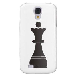 Parte de xadrez preta da rainha capas personalizadas samsung galaxy s4