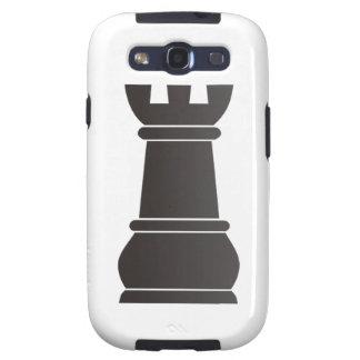 Parte de xadrez preta da rocha capa personalizadas samsung galaxy s3