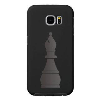 Parte de xadrez preta do bishop capas samsung galaxy s6