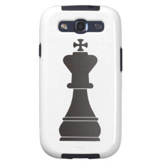 Parte de xadrez preta do rei capa personalizadas samsung galaxy s3