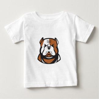 Parte dianteira americana da cabeça do buldogue camiseta para bebê
