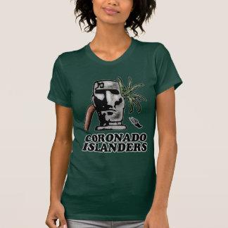 Parte dianteira americana da trilha do insular do camisetas