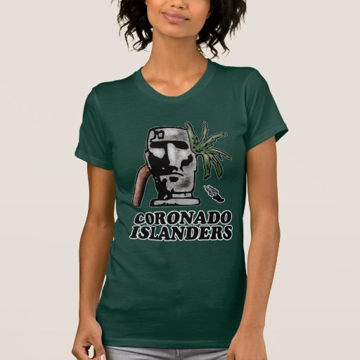 Parte dianteira americana da trilha do insular do  t-shirt
