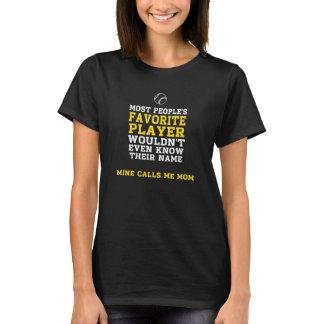 Parte dianteira de camisa escura BB/SB do jogador Camiseta