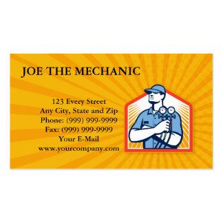 Parte dianteira do mecânico do condicionamento de  cartão de visita