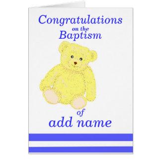 Parte dianteira do nome do menino do cartão dos