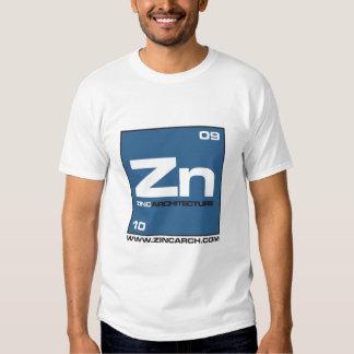 parte dianteira do símbolo do zinco t-shirts