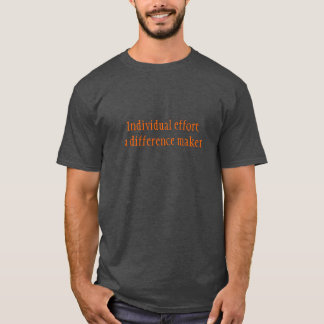 Parte dianteira escura do t-shirt de Basoc (carvão Camiseta