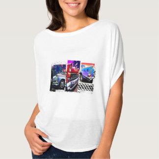 Parte superior clássica dos carros do círculo do tshirts