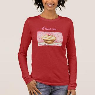 Parte superior da camisa das mulheres do cupcake