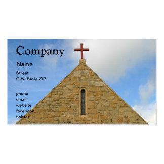 Parte superior da igreja modelos cartões de visitas
