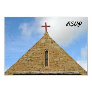 Parte superior da igreja convite 8.89 x 12.7cm