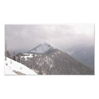 Parte superior da montanha impressão de foto