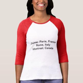 Parte superior de J'aime Montreal para mulheres T-shirts