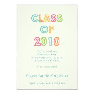 parte superior do convite da graduação da classe