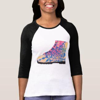 Parte superior Funky da bota Camiseta