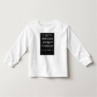 Parte superior longa da luva da criança à moda t-shirts