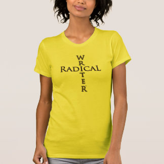 Parte superior radical do escritor camiseta