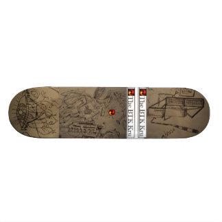 Parte traseira 2 Drawingboard de BTK Kru Shape De Skate 18,7cm