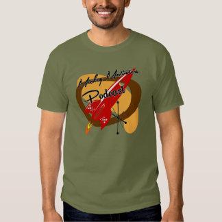Parte traseira dianteira vermelha do logotipo do camiseta