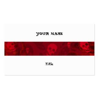Parte traseira horizontal do branco da listra cartão de visita