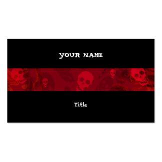 Parte traseira horizontal do preto da listra cartão de visita