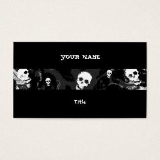 Parte traseira horizontal do preto da listra dos cartão de visitas